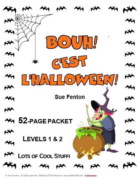 BOUH! C'est l'Halloween! French Activity Packet