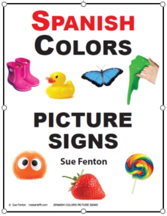 Spanish Colors Picture Signs